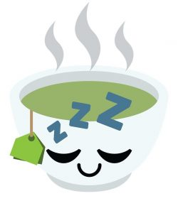 Sleep with green tea