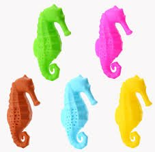these colorful sea horse tea infuser