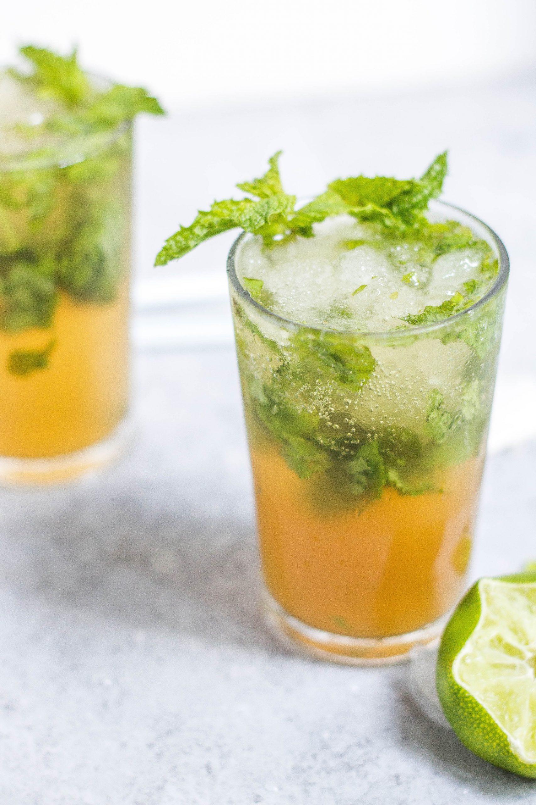 iced tea with loose leaf
